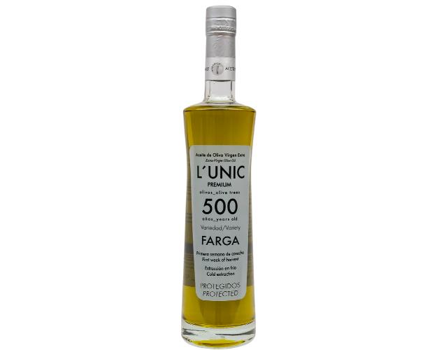 L´UNIC 500 años aceite milenario